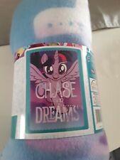 MY LITTLE PONY FLEECE BLANKET KIDS BED THROW -CHASE THE DREAM PURPLE