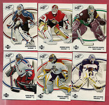 6 X 2005-06 UPD ICE GOALIE CARD