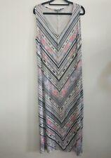 Suzanne Grae tribal boho maxi dress size M