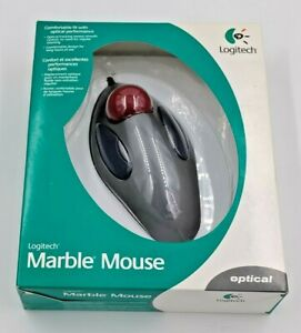 LOGITECH  MARBLE MOUSE Optical Trackball TrackMan 4 Button USB PS/2 Mouse Corded