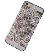 FUNDA PARA APPLE IPHONE 5-5S SEMITRANSPARENTE MOTIVOS HENNA MANDALA TRIBAL