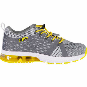 CMP Boys Trainers Sport Shoes Kids Knit Fitness Shoe Grey Breathable