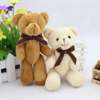 2 Pcs 5'' Teddy Bear Toys Soft Plush Stuffed Animal Fancy Doll Gift Keyring 13cm
