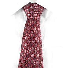 Brioni Burgundy Silk Men's Neck Tie made in Italy Floral