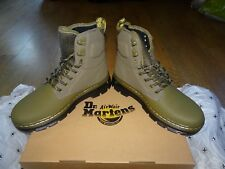 Dr Martens Olive Green QUINTON Leather Boots *Size 4 UK* BNIB *BRAND NEW*