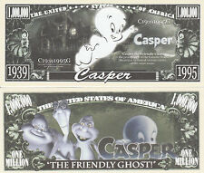 Casper the Friendly Ghost Million Dollar Funny Money Novelty Note + FREE SLEEVE