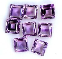 NATURAL PURPLE AMETHYST 6X6 MM SQUARE CUT FACETED LOOSE AAA GEMSTONE LOT