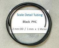2 mm Black PVC Tubing..Scale Model Detailing - Tamiya..Italeri..Revell..Airfix