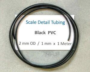 2 mm Black PVC Tubing..For Scale Model Detailing, Upgrade etc.