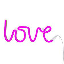 Neon Style Love Light, Pink, UK Adapter