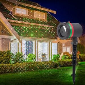 Christmas Star Laser Projector Light LED Move Outdoor Landscape Stage RGB Lamp