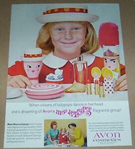 1967 print ad - Avon Miss Lollypop cute little Girl freckles Advertising Page