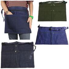 More details for 6 pocket denim market trader money belt bag apron pouch adjustable waist strap