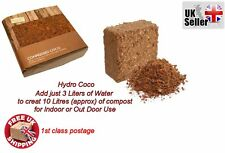 new Hydro Compressed Coco Fiber Growing Coir Potting Soil Mix Block 10 L Liters