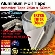Silver Aluminium Foil Adhesive Duct Tape Reflective Heat Shield 25m X50mm X70mu