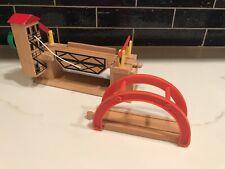 Set Of 2 BRIO Lifting Bridge Wooden Railway Train Drawbridge & Arch Thomas