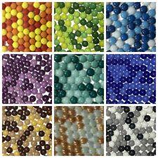 175g Mixed Color Mosaic Mirror Inlay Tiles Handmade 12mm Round Jade DIY Crafts