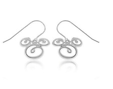 .925 Sterling Silver Swirl Disney Parks Authentic Mickey Mouse Earrings✿Gift Box