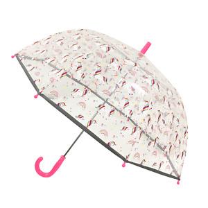 Smati Strong Long Kids Unicorn Wind Resistant Fluorescent Dome 8 Rib Umbrella