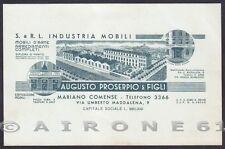 COMO MARIANO COMENSE 08 FABBRICA MOBILI Cartoncino PUBBLICITARIO ADVERTISING