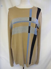 Mens Jumper - DKNY, size M, brown/black/blue/grey, cotton, bobbly/fuzzy - 1025
