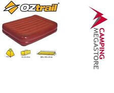OZTRAIL QUEEN DOUBLE HEIGHT COMFORTABLE VELOUR MATTRESS