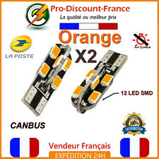 2 x ampoule LED T10 W5W Orange Canbus Anti Erreur Ampoules Voiture 5W Tuning
