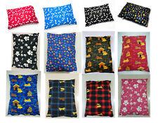 LARGE & Extra Large Pollycotton Dog Bed -Pet Washable Zipped Mattress Cushion