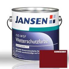 Jansen ISO WSF Wetterschutzfarbe schwedenrot 2,5l Holzfarbe Schwedenrotfarbe