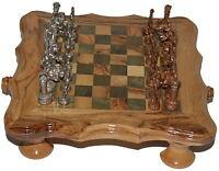 Metallfiguren Handarbeit Unikat für Schachspiele Metal Figures Kein Brett Neu