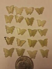 "20 Serpentine Jade 1/4×1/2"" Carved Butterfly Gemstone Bead Charm Pendant Craft"