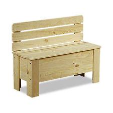 Holztruhe Holzbank Truhenbank Sitzbank für Kinder Spielkiste Kiste B-12