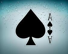 Autocollant sticker voiture moto jeton poker table casino jeux as de pic carte A
