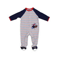 Little Me Football Footie Pajamas for Baby Boys - One-Piece Footed Sleeper