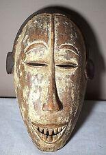 "Vintage Nigerian Igbo Maiden Spirit Mask 14"" Hand Carved Wood African Tribal Art"
