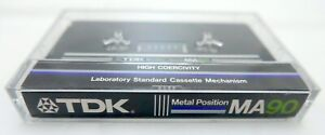 One TDK MA90 Metal Tape Cassette Unsealed But Mint
