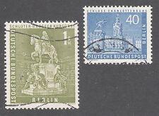 GERMANY, BERLIN STAMPS #9N131,135 — 40ph + 1m VALUES -- 1957 -- USED