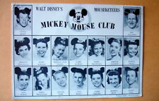 1958 EARLY MICKEY MOUSE CLUB MOUSEKETEERS~GROUP PHOTO~POSTCARD TO FAN~DISNEY
