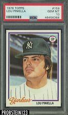 1978 Topps #159 Lou Piniella Yankees PSA 10 GEM MINT