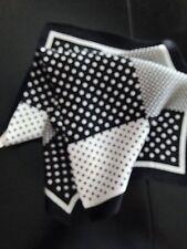 "SPECIAL! 14"" 100% silk elegant, designer black and white pocket square"