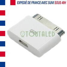 ADAPTATEUR MICRO USB VERS 30 PINS DOCK IPHONE 3 4 IPAD IPOD ENVOI FRANCE SUIVI