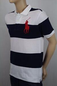 Childrens Polo Ralph Lauren Navy White Big Red Pony Shirt NWT