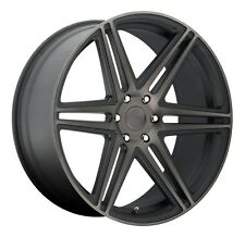22x9.5 Dub Skillz S123 6x5.5 ET30 Black Machined Wheels (Set of 4)