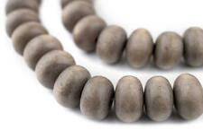 Brown Abacus Natural Wood Beads 10x15mm Round Large Hole 16 Inch Strand
