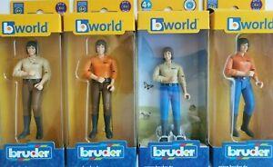 Bruder Frauen 60406 60402 Spielzeugfiguren Reiterin Traktor Bagger Lader Bworld