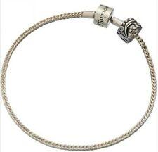 *New* 925 Sterling Silver Rhona Sutton foxtail european charm bracelet + stopper