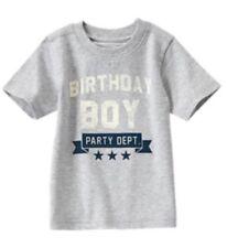 NWT Gymboree Boy BIRTHDAY SHOP Gray Tee Shirt Party Dept. Size 2t