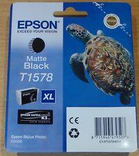 GENUINE EPSON T1578 Noir Mat Cartouche Original OEM 157 TURTLE XL Encre: R3000