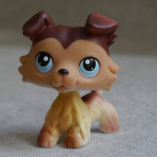 Littlest Pet Shop Brown Collie Colley Dog Pubby #58 LPS Dog Figure Toy