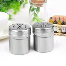 Set of 2 Condiment Jar Spice Sugar Salt Seasoning Can Pepper Shaker Barbecue New
